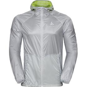 Odlo Zeroweight Jacket Men silver-acid lime